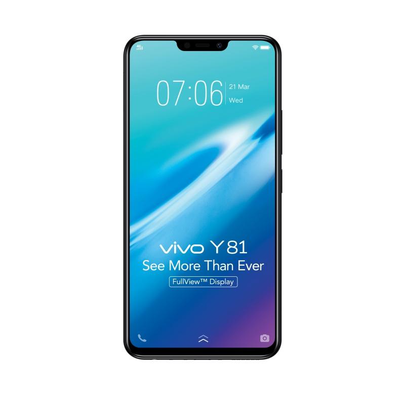 The Vivo Y81 smartphone. <br> Image source: Vivo