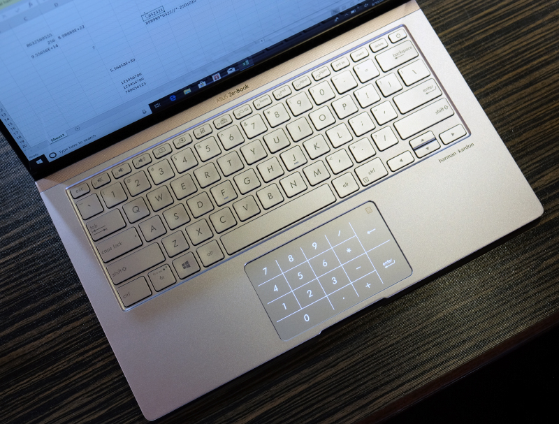 The smaller ZenBook 13 and 14 can be spec'd with the virtual number pad.