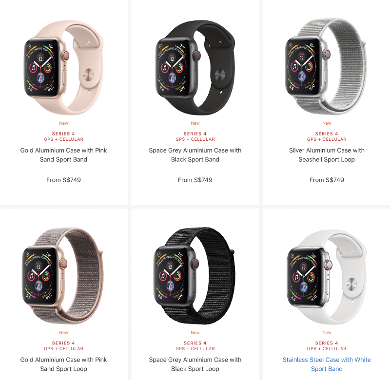 new arrivals 2a617 03217 Build & Details of the cellular edition : Apple Watch Series 4 ...