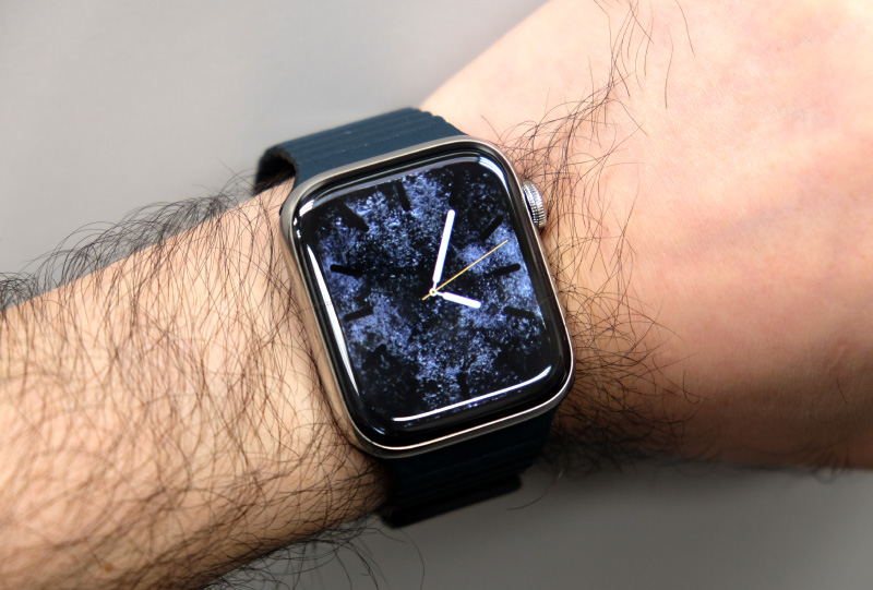 The Apple Watch Series 4 wears well despite its larger case size.