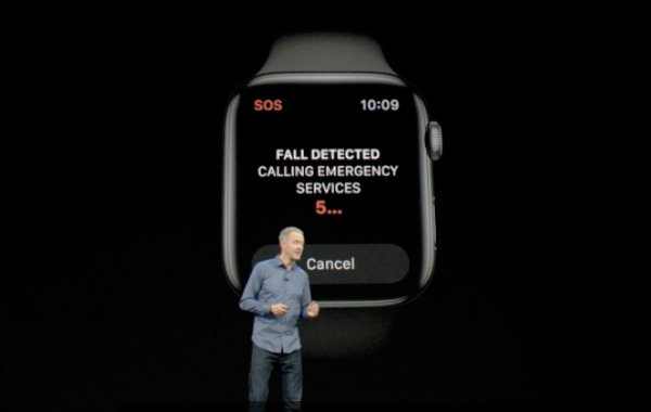 The Apple Watch Series 4 can detect hard falls.