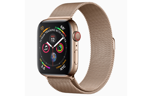 The new stainless steel gold finish. (Image source: Apple)