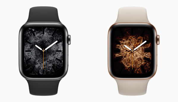 The new Fire and Water motion watch faces. (Image source: Apple)