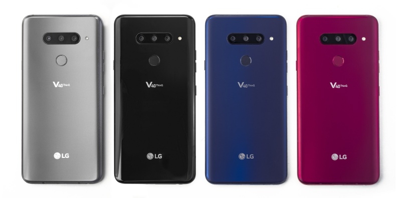 The LG V40 ThinQ. <br> Image source: LG