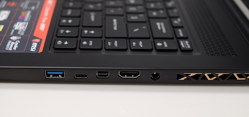 The Thunderbolt 3 port is located on the right side.