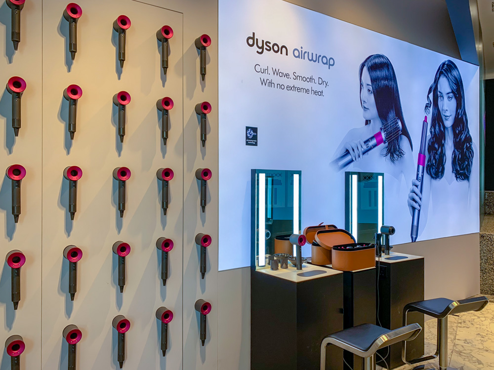 Experience the Dyson Airwrap styler at Robinsons or Tangs in Orchard.