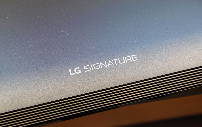 The W8 is part of LG's Signature lineup, which is a way of saying it has the best design, uses the best material, and costs the most.