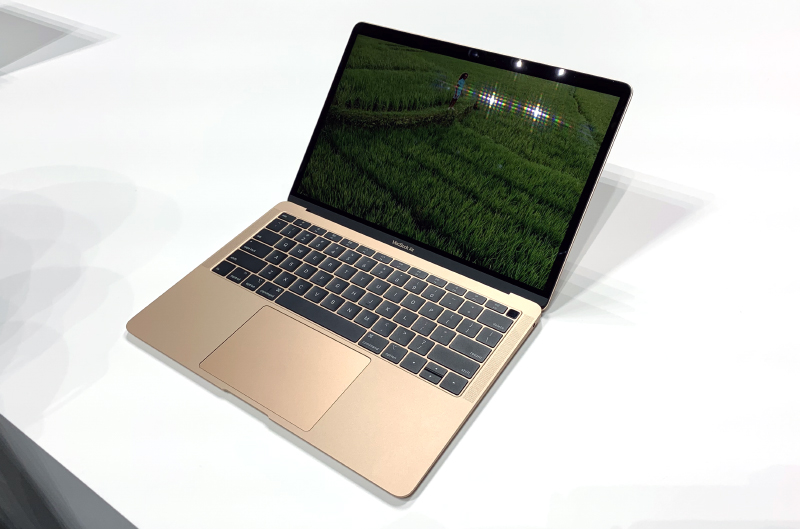 The new MacBook Air looks good in gold.