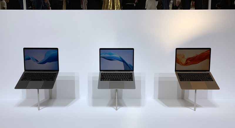 The new MacBook Air comes in three finishes: space grey, silver, and gold.