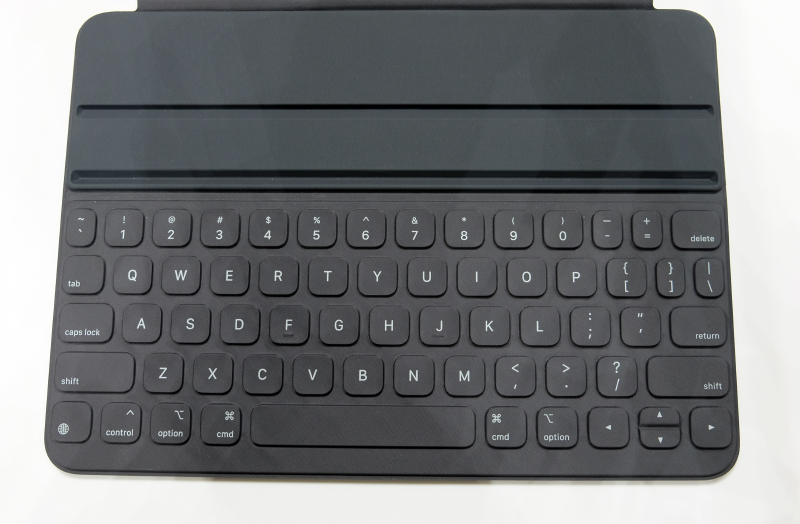 The keys of the new Smart Keyboard Folio are pleasant despite their low profile.