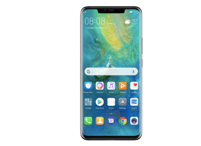 Purported image of the Huawei Mate 20 Pro. <br> Image source: WinFuture.de