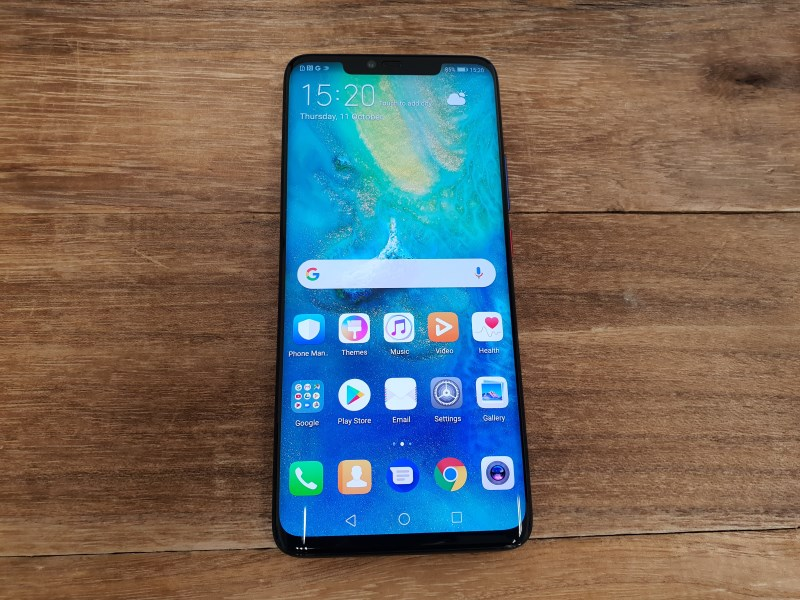 The Huawei Mate 20 Pro.