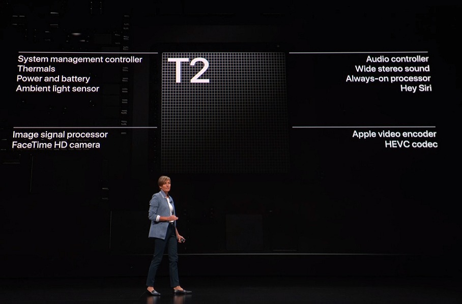 Here's what else the Apple T2 security processor governs in the operations fo the notebook.