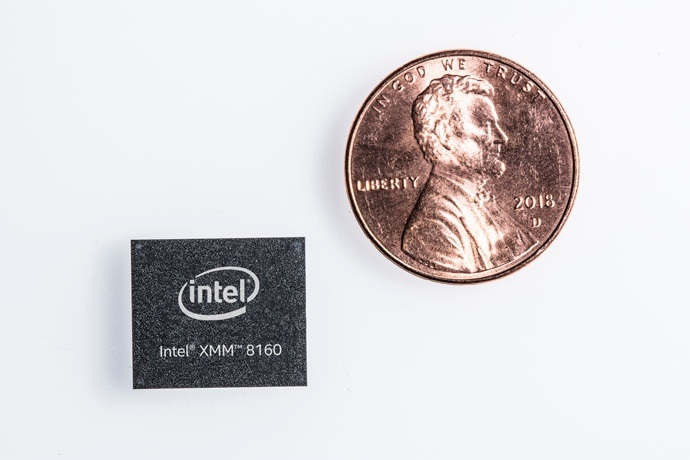 Intel's 5G modem, the XMM 8160.