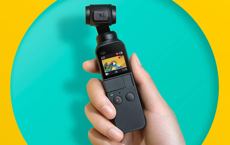 The Osmo Pocket is a super-small 3-axis stabilized camera