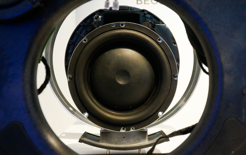 The main 10-inch woofer bass driver.