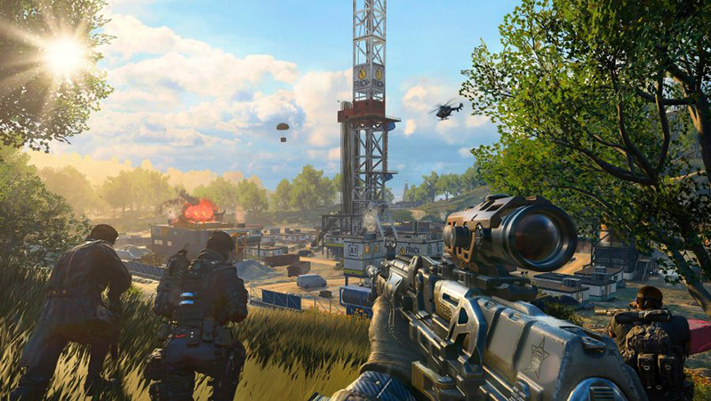 The Blackout mode in Black Ops 4 looks a lot like PUBG.