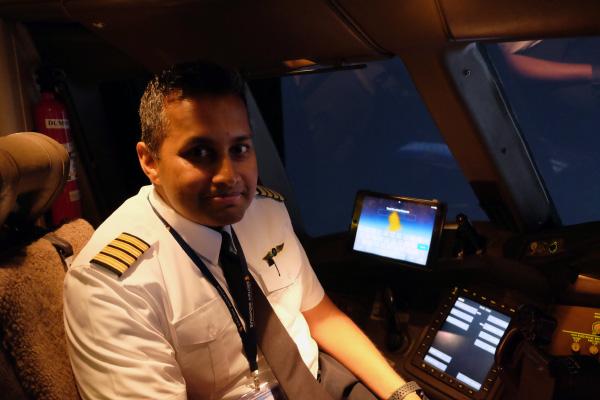 Captain Raj Kumar, deputy chief pilot, B777, Flight Operations Division, said that the iPad has been very helpful in his work.