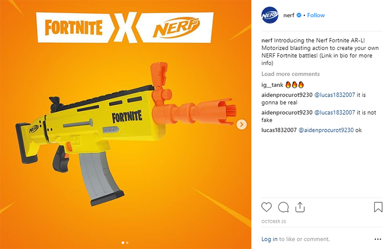 Nerf is making a Fortnite-branded gun.