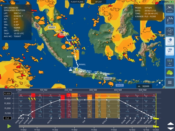 Numerous airlines rely on GTD eWAS Weather Awareness Tool for up-to-date weather information.