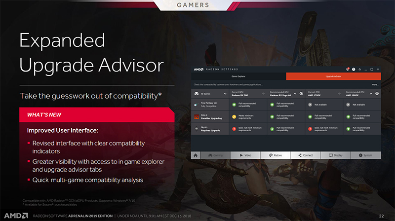 AMD's Radeon Software Adrenalin 2019 Edition is redesigned for