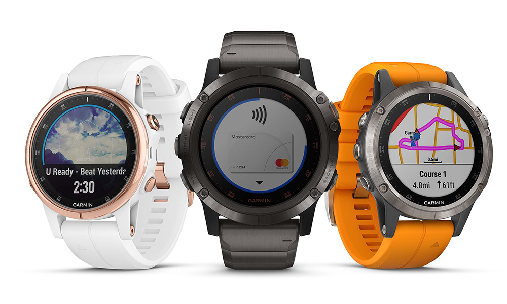 Garmin's new Fenix 5 Plus series adds music, payment, SO2 sensor and