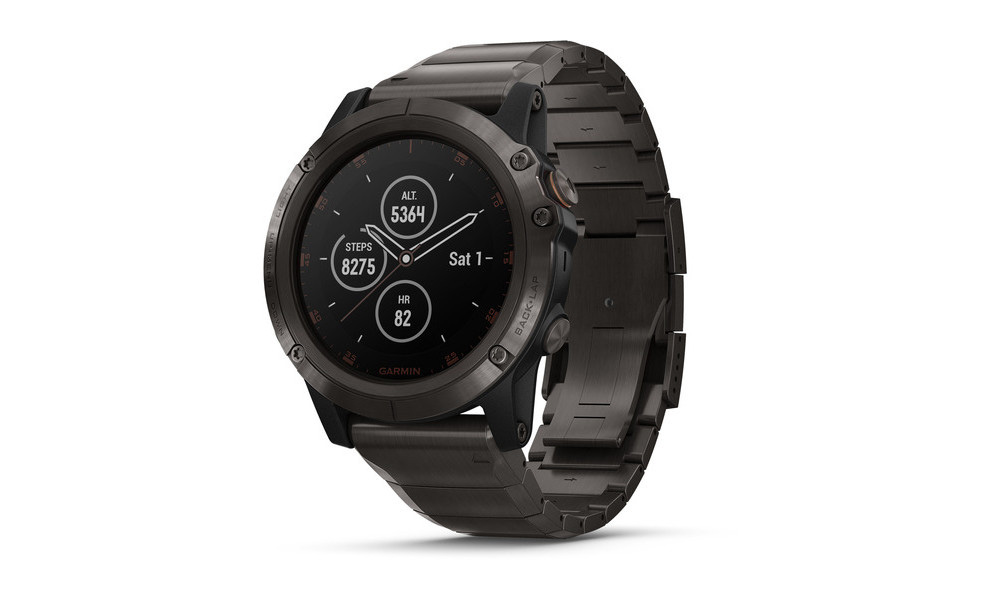 The Fenix 5X Plus is the largest model. It comes with the longest battery life and is the only one to have the new SO2 sensor.