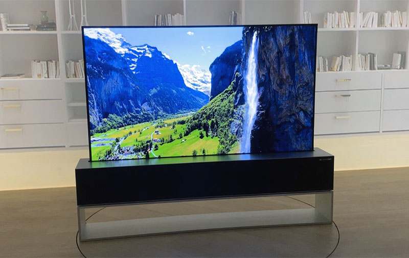 The LG Signature R 4K OLED TV will roll into a 100W Dolby