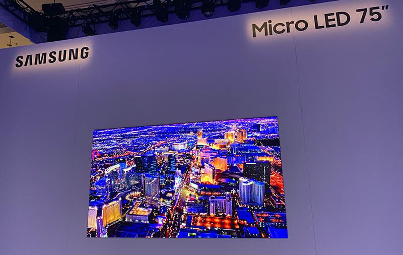 Samsung shows off a 75-inch microLED display at CES 2019