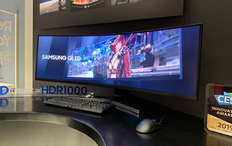 The 49 Inch Samsung Crg9 Gaming Monitor Has A 5 120 X 1 440 Pixel