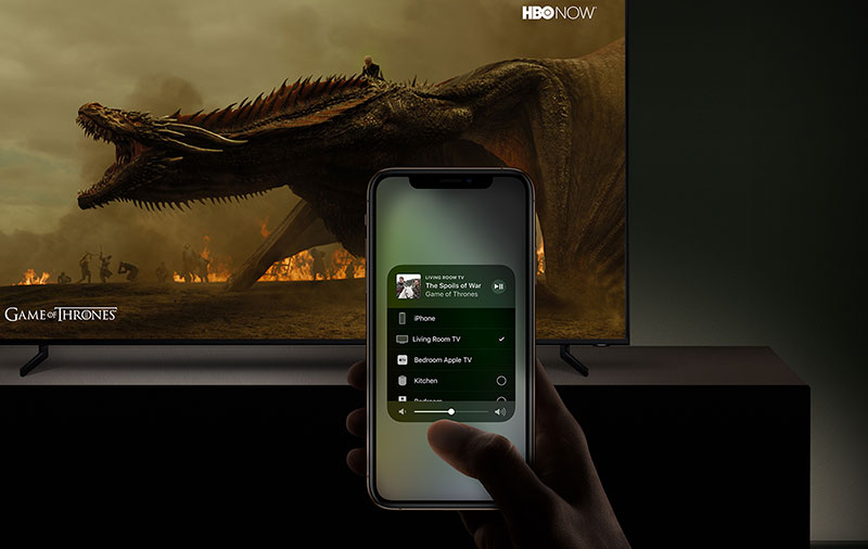 Yup, AirPlay support on Samsung smart TVs. Who needs an Apple TV? (Image source: Samsung.)