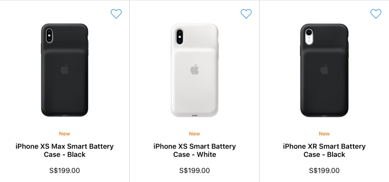 The new Smart Battery Cases for the 2018 iPhone lineup.