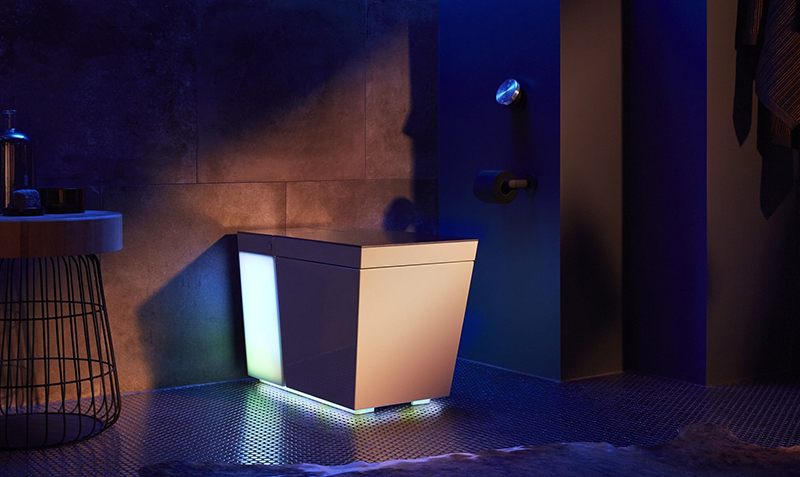 The Numi 2.0 intelligent toilet adds ambient lighting to your bathroom. (Image Source: Kohler)