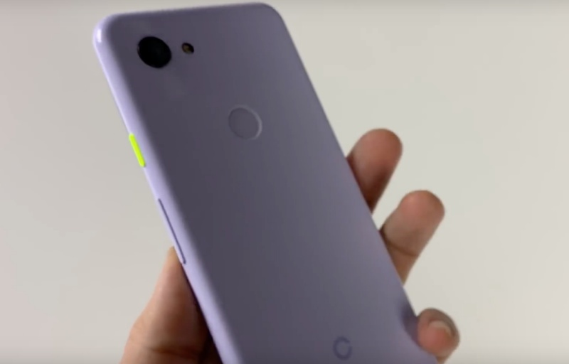 Screenshot taken of the Google Pixel 3 Lite from Andro News' YouTube.