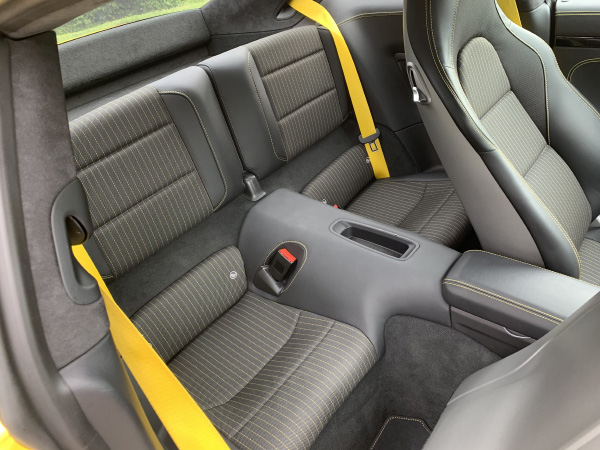 Rear seats are great for storing stuff and there are even ISOFIX points for baby seats.