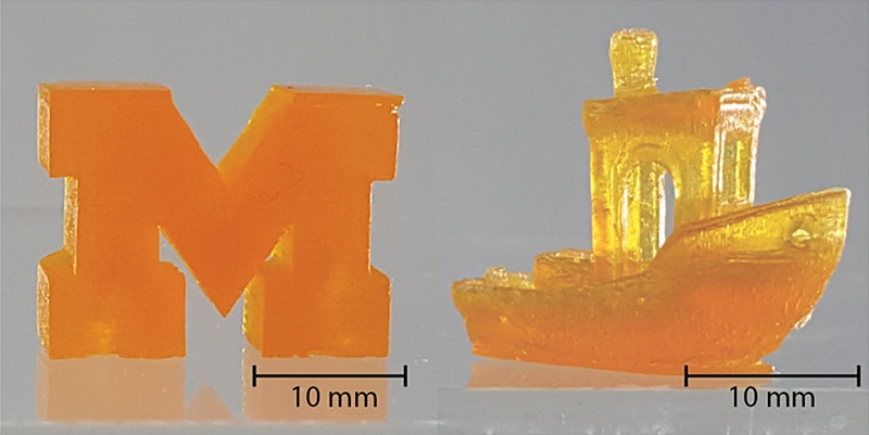 Printing demonstrations from the new 3D printing process (Image source: ScienceAdvances)