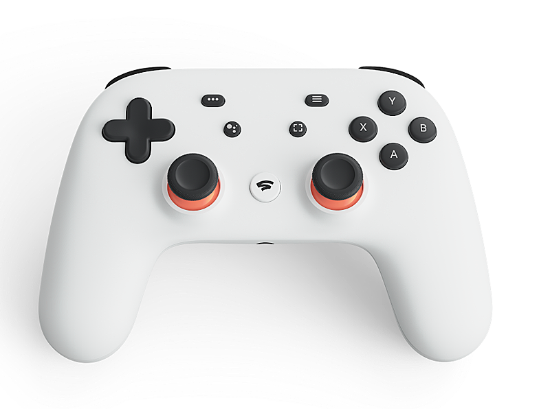 The Stadia Wi-Fi enabled game controller. Image source: Google