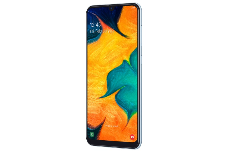 The Samsung Galaxy A30.