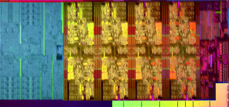 A die shot from a 9th-gen Intel Core desktop processor.(Image source: Intel)