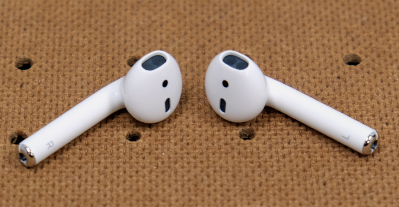 New AirPod on the left, old one on the right. Can you tell the difference?