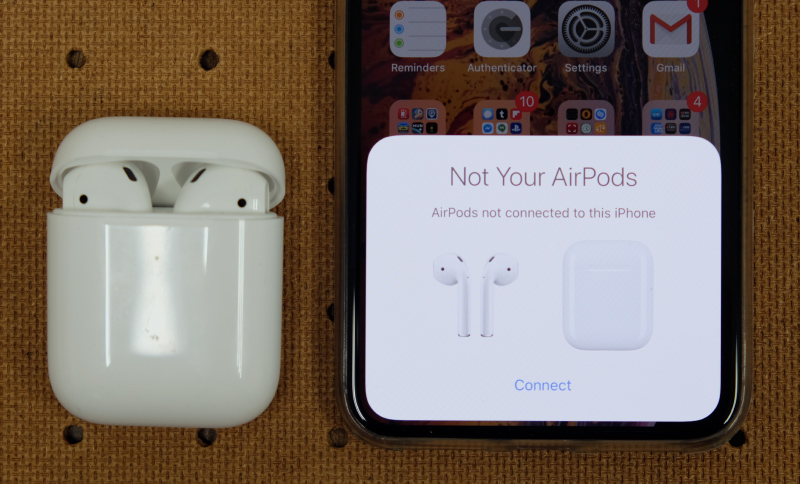 "Open the case next to an iPhone and you'll be greeted with this pop-up. Tap ""Connect"" and start enjoying your music."