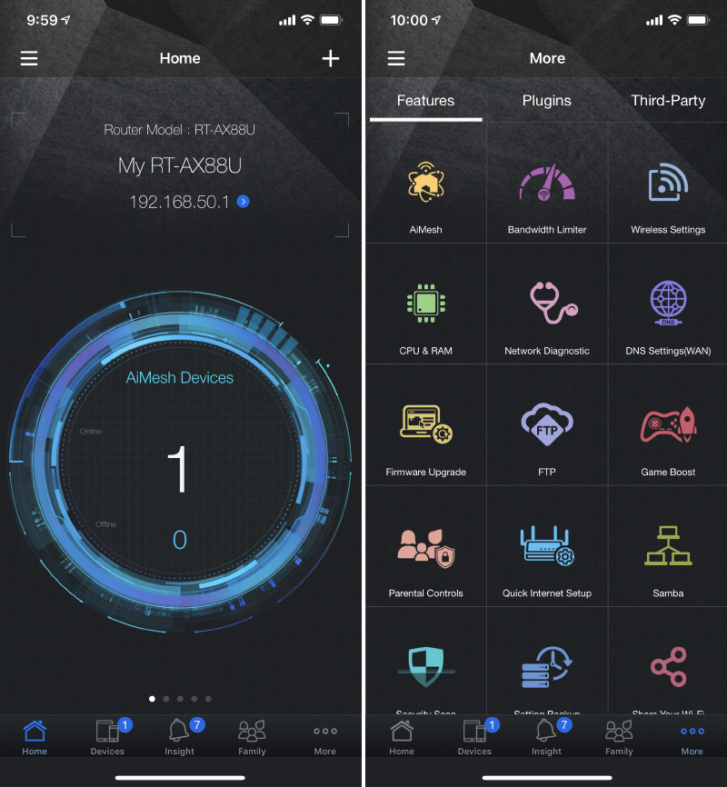 The ASUS Router app is actually very powerful insofar as router mobile apps are concerned, allowing users to manage a wide range of features and parameters.