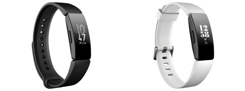The Fitbit Inspire (left) and the Fitbit Inspire HR (right).