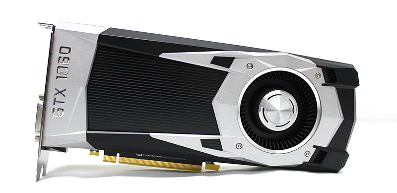 The NVIDIA GeForce GTX 1060 graphics card.