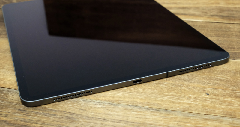 The 2018 iPad Pro tablets come with USB-C ports.