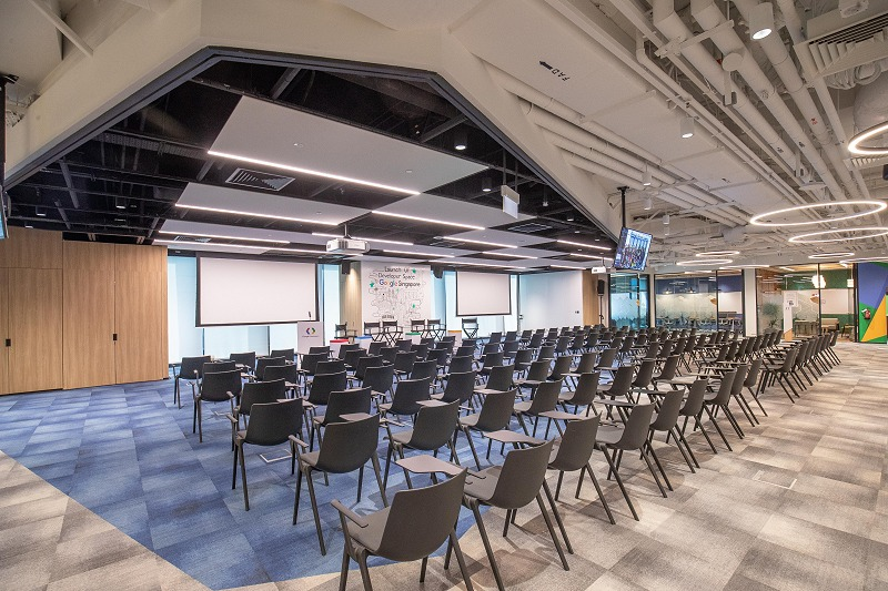A huge portion of the Developer Space is catered for hosting talks or workshops.