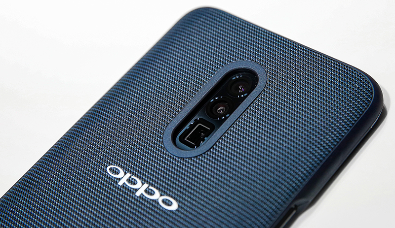 Oppo had a prototype phone on display with the new camera system.