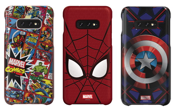 The Galaxy Friends Marvel Smart Cover. (Image source: Samsung)