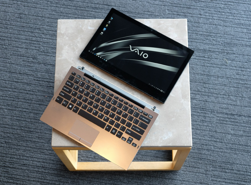 The Vaio A12 is a detachable notebook with a sturdy keyboard base.