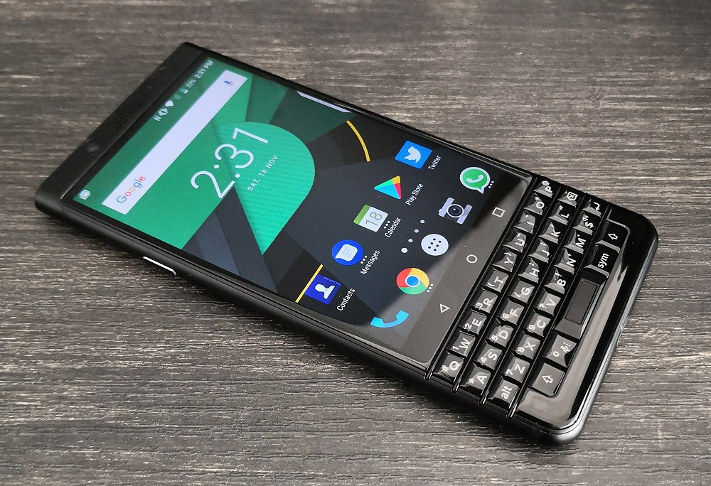 The BlackBerry KEYone.